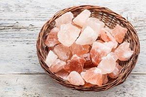 Pink salt stone