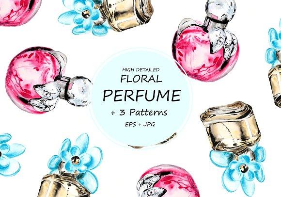 Watercolor Floral Perfume