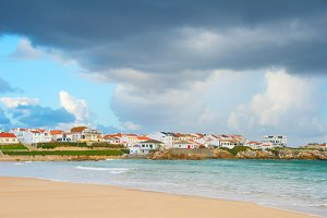 Charming Portugese town at seashore