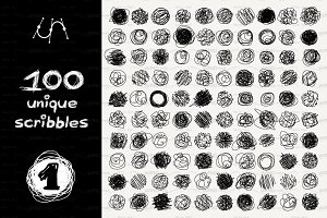 ♡ vector SET 100 SCRIBBLES Part 1