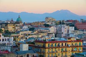 Skyline of Naples, Italy