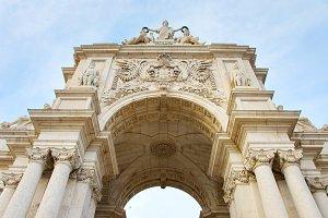 Lisbon Triumphal Arch. Portugal