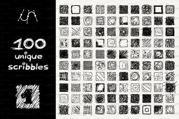 vector square SCRIBBLES Part 1