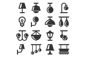 Lamp Icons Set