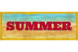 Vintage summer sign