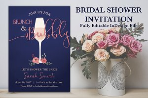 Brunch n Bubbly Bridal Shower Invite