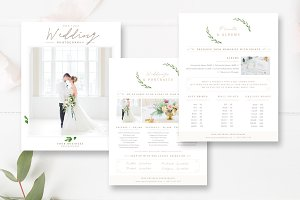 Wedding Photo Pricing Guide Set