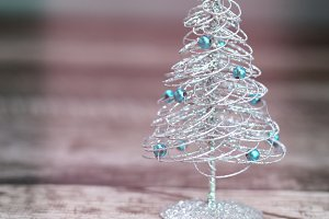 Beautiful silver christmas tree