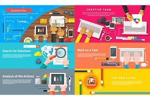 Creative team. Young design team