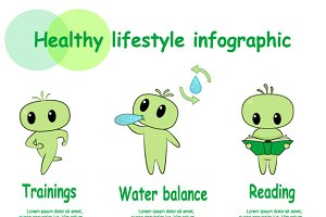 Healthy icon set