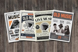 Old Vintage Music Flyer Bundle