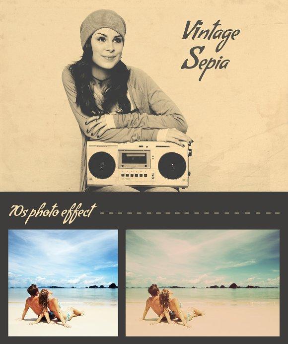 70s Vintage Photo Effect Orp60 Actions Creative Market