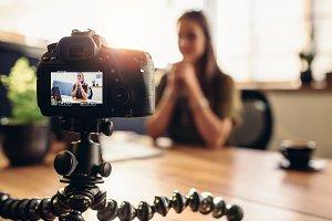 Digital camera on flexible tripod
