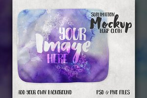 Fleece Burp Cloth Mockup