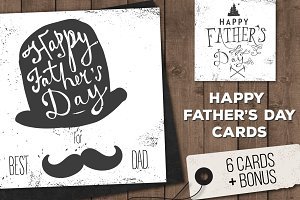 Father's Day Posters & Cards Set