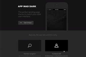 App Mad Dark Product PSD