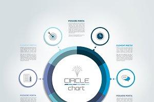 Circle, round  infographic chart