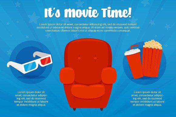 Cinema Illustration Set