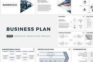 Business strategy powerpoint presentation templates creative market business plan powerpoint template wajeb Gallery