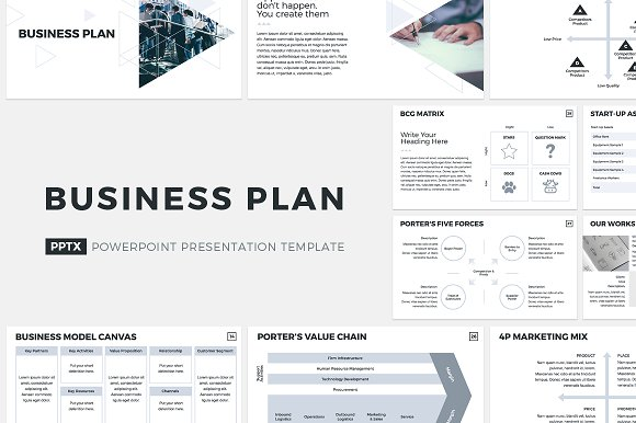 Business Plan PowerPoint Template Presentation Templates - How to create a business plan template