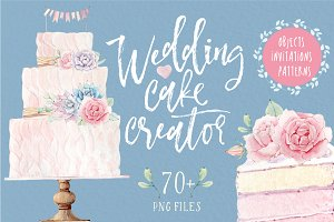 WEDDING CAKE CREATOR watercolor set