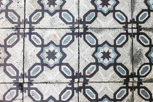 Vintage Ancient Tile Floor