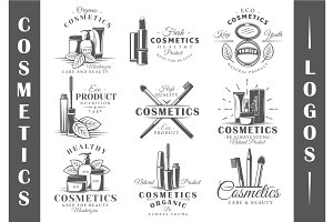 9 Cosmetics Logos Templates Vol.1