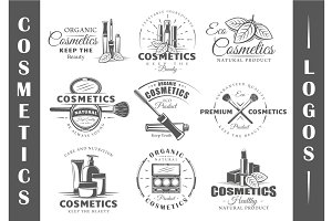 9 Cosmetics Logos Templates Vol.2