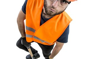 image of worker man