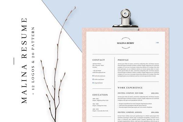 resume templates agatacreate malina