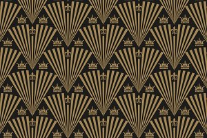 Art Deco seamless wallpaper pattern