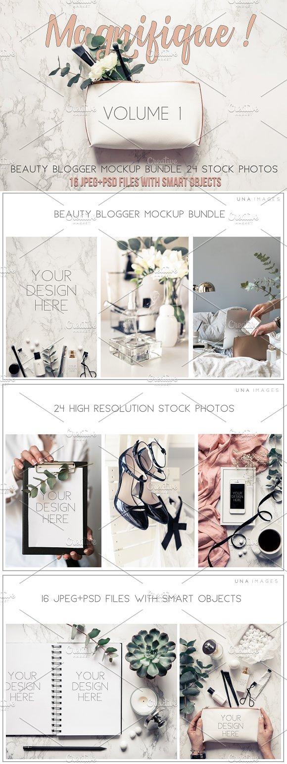 Beauty blogger mockup bundle Vol. 1