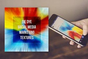 Tie Dye Social Media Textures