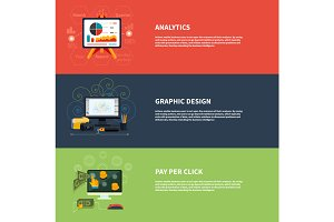 Icons for web design analytics