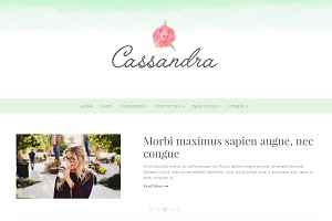 Cassandra - Feminine WordPress Theme