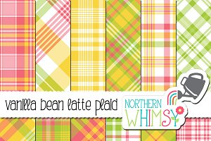 Spring Plaid:  Vanilla Bean Latte