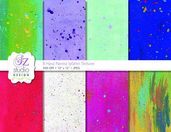8 High Resolution Splatter Textures