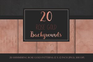 Rose Gold Geometric Backgrounds