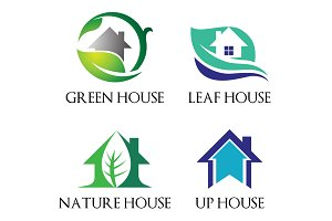 4 Fresh House Home Residential Logo