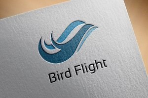 Abstract Bird Flying Flight Logo