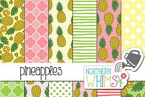 Pineapple Seamless Patterns
