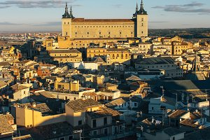 Toledo at sunset (Spain)