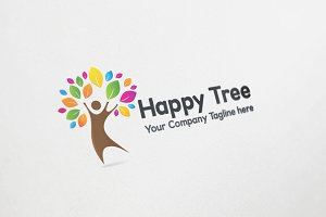 Happy Tree Logo Design