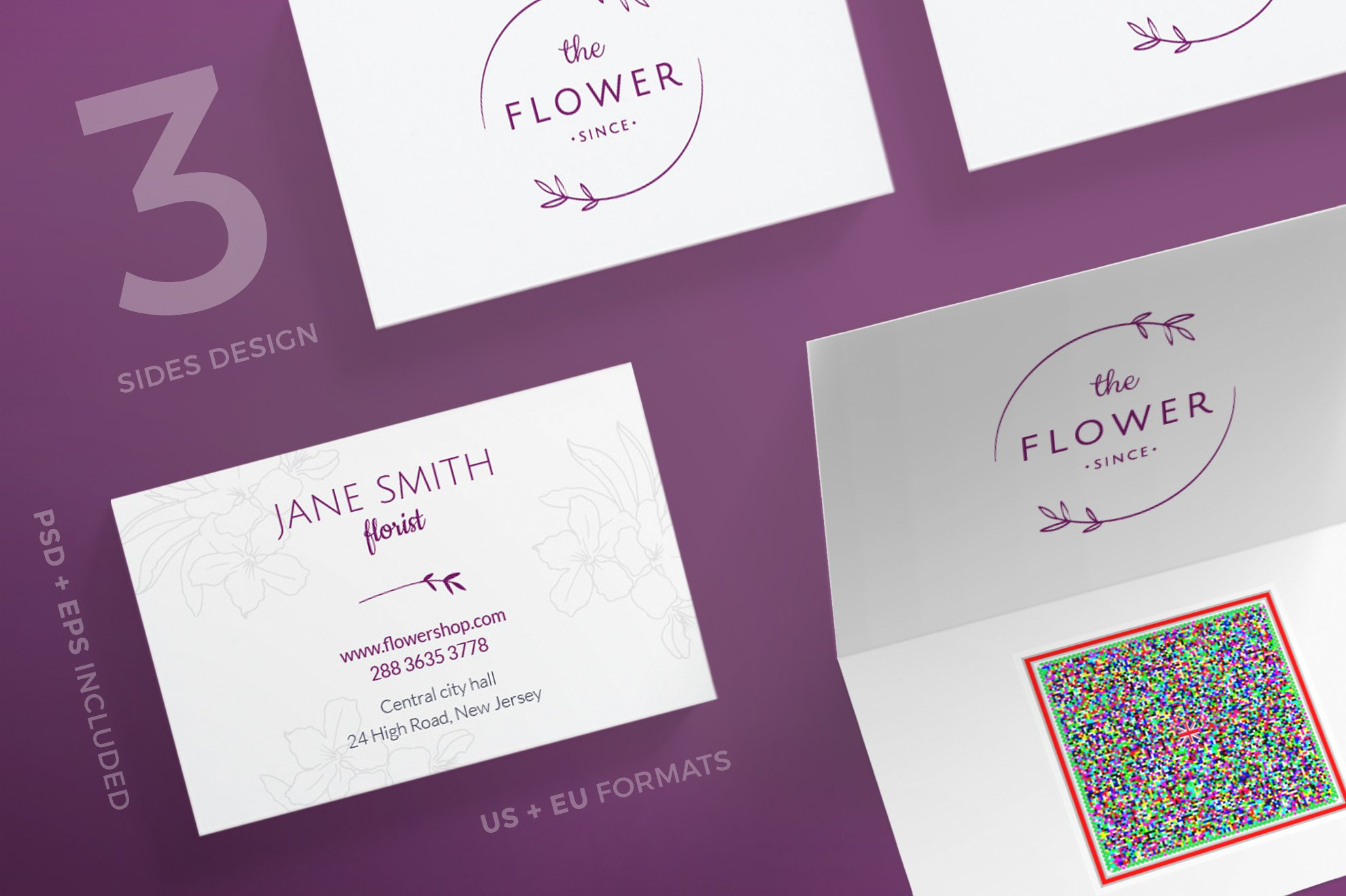 Business Cards | Flower Shop ~ Business Card Templates ~ Creative Market