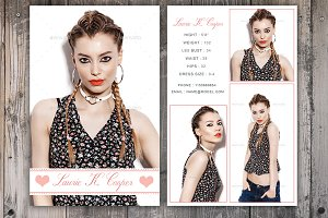 Fashion photography logo logo templates creative market for Free model comp card template psd