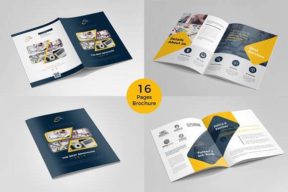 Brochure template 16 pages brochure templates for Pages brochure template