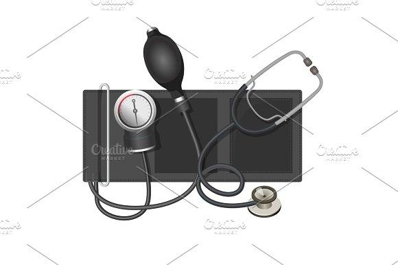 Auscultatory Method Aneroid Sphygmomanometer With Stethoscope Bulb