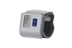 Sphygmomanometer, blood pressure meter with monitor or gauge device