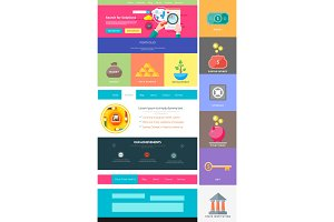 Website page template. Web design