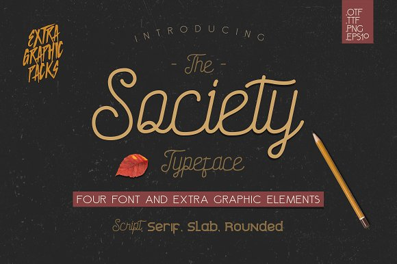 Society Typeface 4th Font